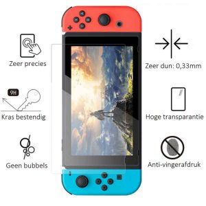 Nintendo Switch screenprotector 9H tempered glass