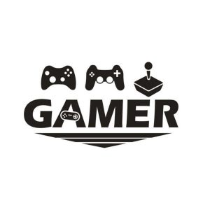Gamer sticker voor gaming setup of deur zwart GAMER