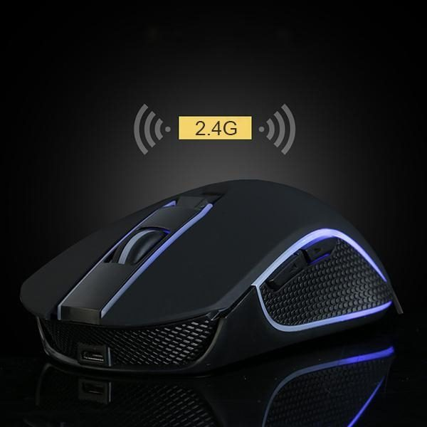 Draadloze gaming muis met LED RGB verlichting 2,4 Ghz